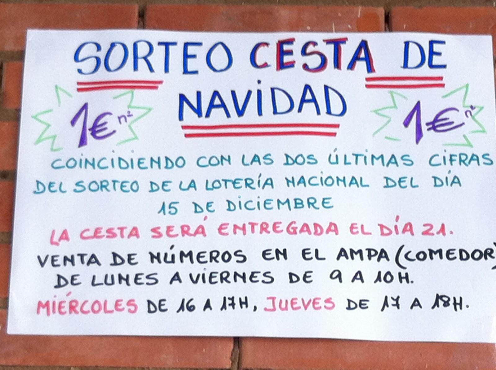 SORTEO CESTA NAVIDAD 2012